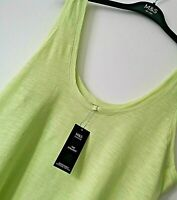LADIES M&S SIZES 10 OR 16 GREEN COTTON RICH STRAIGHT STRETCH VEST TOP FREE POST