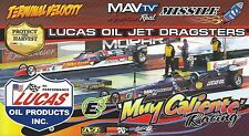 LUCAS OIL JET DRAGSTERS 2015 NHRA Drag Racing 4 Drivers POSTCARD-HANDOUT