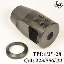 1/2x28 Compact Muzzle Brake Compensator CQB.223/5.56/.22lr Custom S-Type Comp