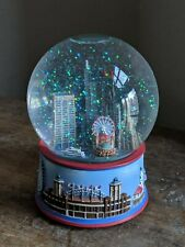 Chicago Skyline Musical Snow Globe Plays My Kind of Town. Features Navy Pier
