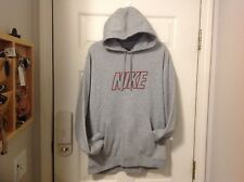 Men's Nike Hoodie / Sweatshirt Gray W/ Black & Red Size Large