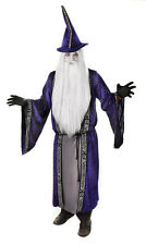 MEDIEVAL & #GOTHIC WICKED WIZARD ROBE & HAT FANCY DRESS MAGICIAN OUTFIT