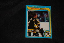 GILLES GILBERT 1979-80 TOPPS SIGNED AUTOGRAPHED CARD #209 BRUINS