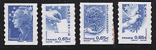 FRANCE AUTOADHESIF N°  179 à 182 ( 4201 à 4204 ) ** MNH, Valeurs de l'Europe, TB