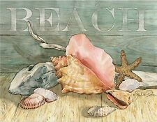 BEACH STARFISH SEA SHELLS   MOUSE PAD  IMAGE FABRIC TOP RUBBER BACKED