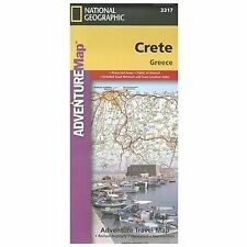 NATIONAL GEOGRAPHIC CRETE GREECE MAP - NATIONAL GEOGRAPHIC SOCIETY (U. S.) - NEW