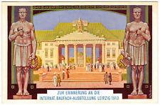 POSTCARD GERMAN 1913 LEIPZIG INT'L ARCHITECTURE EXPO 12
