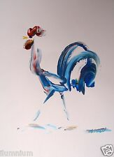Acrylic Art Painting on Paper - Chicken