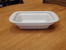 "White Ceramic Stacking Dish ""Festival"" 23.3 x 14.3 x 5.7 cm Deep (CE5143W)"