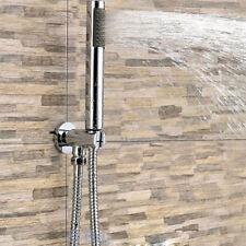 Bathroom Round Hand Shower Kit - Bracket Holder Outlet Shower Head Handset&Hose
