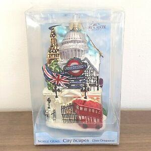 NEW! Noble Gems Glass Christmas Ornament City Scapes London Kurt S. Adler