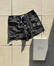 John Galliano Gazette Print Loop-Tie Swim Shorts Size UK 32 / EU Small BN