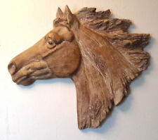 Horse Head 3D Sculpture Western Equestrian Wall Art Hanging Home Decor