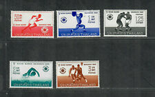 Thailand Sc#444-448 M/NH/VF, Partial Set, Asian Games, Cv. $40.50
