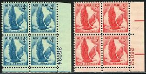#C48,C50 PB 1954 AND 1958 EAGLE IN FLIGHT AIRMAIL ISSUES MINT-OG/NH