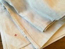 Antique Bed Sheet French Linen Upholstery Fabric
