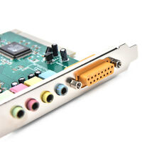 4 Channel 5.1 Surround 3D PCI Sound Audio Card MIDI MEr PC Windows XP/7/8/10 ME