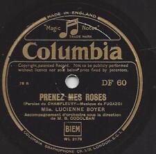 Lucienne Boyer 1941 : Parlez-Moi d`amour + Prenez mes Roses