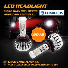 Pair 180W 18000LM 9012 HB4 CAR LED Headlight Upgrade Kit 6000K White ERROR FREE