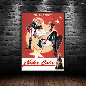 Fall Out Nuke Cola Print Poster Wall Art A4 Xbox Gaming Vault PC Console -1080
