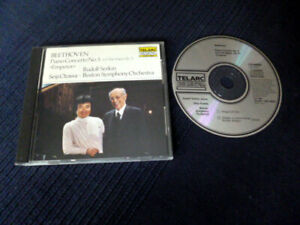 CD BEETHOVEN Rudolf Serkin Seiji Ozawa Piano Concerto 5 TELARC Japan No Barcode