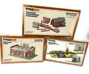 Lot of 3 TYCO KIT MACHINE SHOP 7764 Trackside #7775 Operating Crossing Gate #908