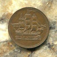 PRINCE EDWARD ISLAND - SHIPS, COLONIES & COMMERCE ONE HALFPENNY TOKEN, 1830-60