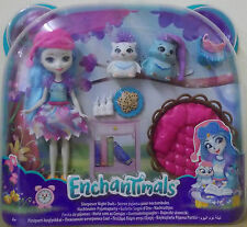 Enchantimals ~ Pyjama Nuit Hiboux Set ~ INC Ohana HIBOU Poupée Pet & 2 Hibou Animaux