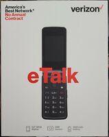 Verizon eTalk - 4GB - Gray Flip Phone SEALED
