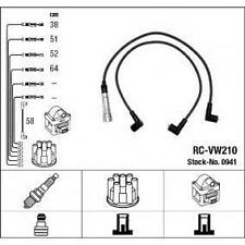 Cables bujia encendido NGK0941 - RC-VW210 - Ignition cable kit - AUDI-SEAT-VW