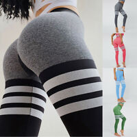 Women Yoga Pants Leggings High Waist Trousers Jogging Stretch Fitness Sports Gym