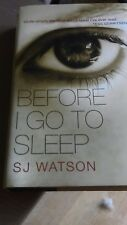 Before I Go to Sleep by S. J. Watson (Hardback, 2011)
