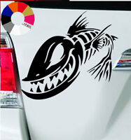 Fisch - AutoAufkleber – Auto Tattoo – Wand Tattoo 9 x 8.5 cm