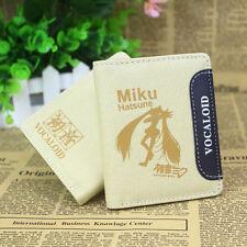 New Anime Vocaloid Miku Hatsune Miku Cosplay Canvas Purse/Wallet coin Bag Pocket