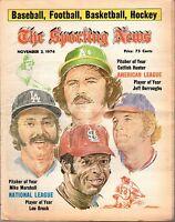 Sporting News 11/2/1974 Baseball magazine Lou Brock Mike Marshall Catfish Hunter