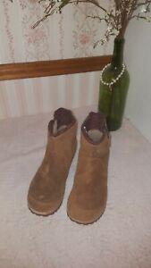 Sorel Womens Meadow Zip Boot Elk/brown size 9 $120