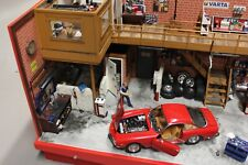Diorama Work shop 1:18 with a Ferrari 250 GT Berlinetta Lusso (PJBB)
