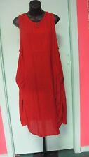 Rust orange light cotton plus size dress pinafore boho gypsy