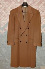 BRIONI Medium Brown Cashmere Overcoat Eu 52/US 42R, Custom Finished, NOS, Mint