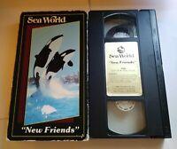 VHS Sea World Orlando New Friends1985 Rare! Great Fun