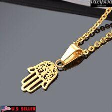 VALYRIA 316L Stainless Steel Women's Fashion Gold Fatima Palm Pendant Neckalce