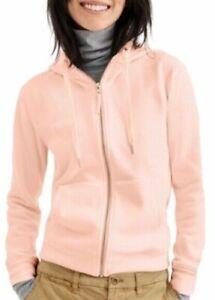 J Crew Vintage Sherpa Hoodie Women's XS Pink Fuzzy Full Zip Sweatshirt Hoodie