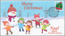 Ca18-055, 2018, Christmas, Pictorial Postmark, First Day Cover, Noel, Hat, $1.20
