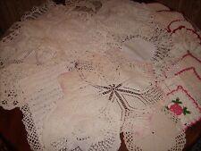 VTG Antique Crocheted Doilies, Tablerunner, Pot holders lot of 21