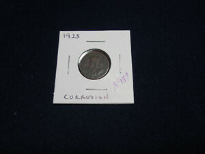 1923 Canadian Cent, Corroded, (a937) (a12)