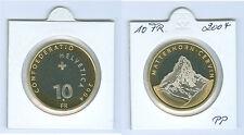 """Schweiz  10 Franken 2004 """"Matterhorn""""  PP aus KMS"""