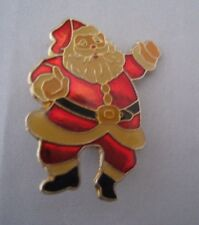 Enamel Vintage Santa Claus Christmas Lapel Pin Brooch