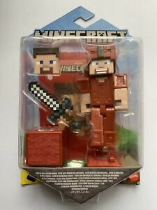 Minecraft. Steve In Red Leather Armor. New. Rare