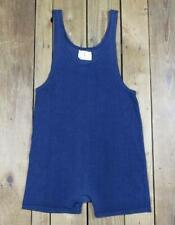 Vintage 1960s Champion Blue Wrestling Singlet Tank Gym Athletic Uniform Sz.L
