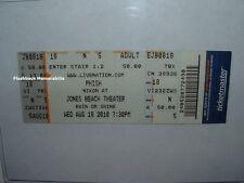 PHISH Concert Ticket 2010 LONG ISLAND NY JONES BEACH THEATER Anastasio TM Rare